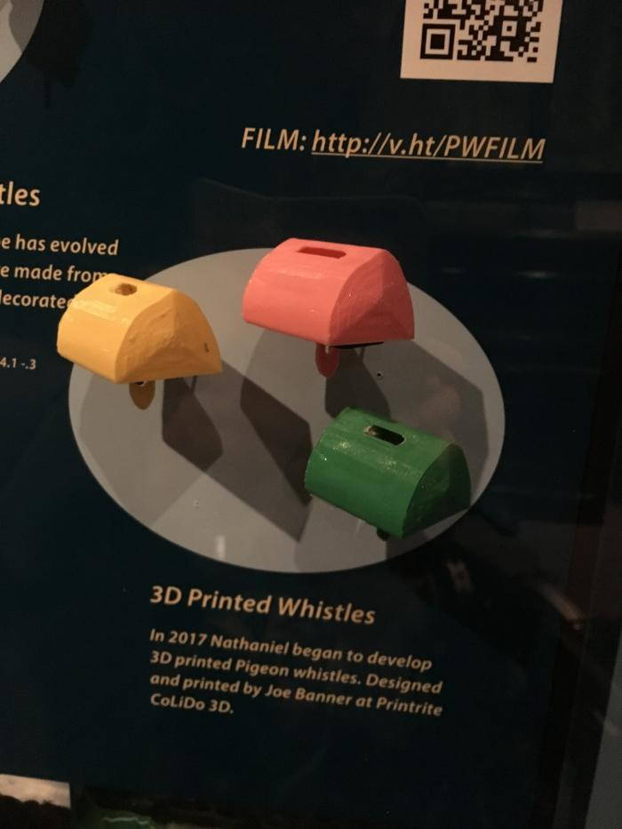 3D printed pigeon whistles from the Pitt Rivers Museum collection